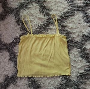 Pacsun yellow crop top S